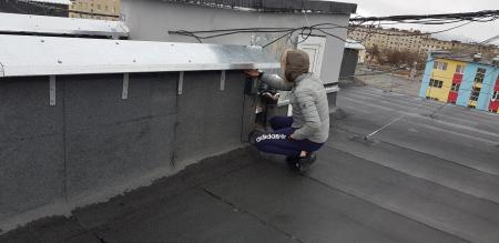 Новая крыша до и после п.Ола, переулок Ольский, 2